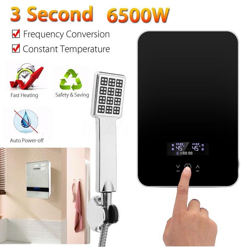 Мгновенный нагрев Электрический водонагреватель 220 В 6500 Вт защита от перегрева постоянной Температура с душевой насадкой