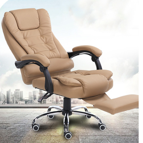 Brown Computer Chair Massage Costco Office Chairs Furniture Leather Ergonomic Swivel Lifting Lounge Sillas Chaise Cadeira