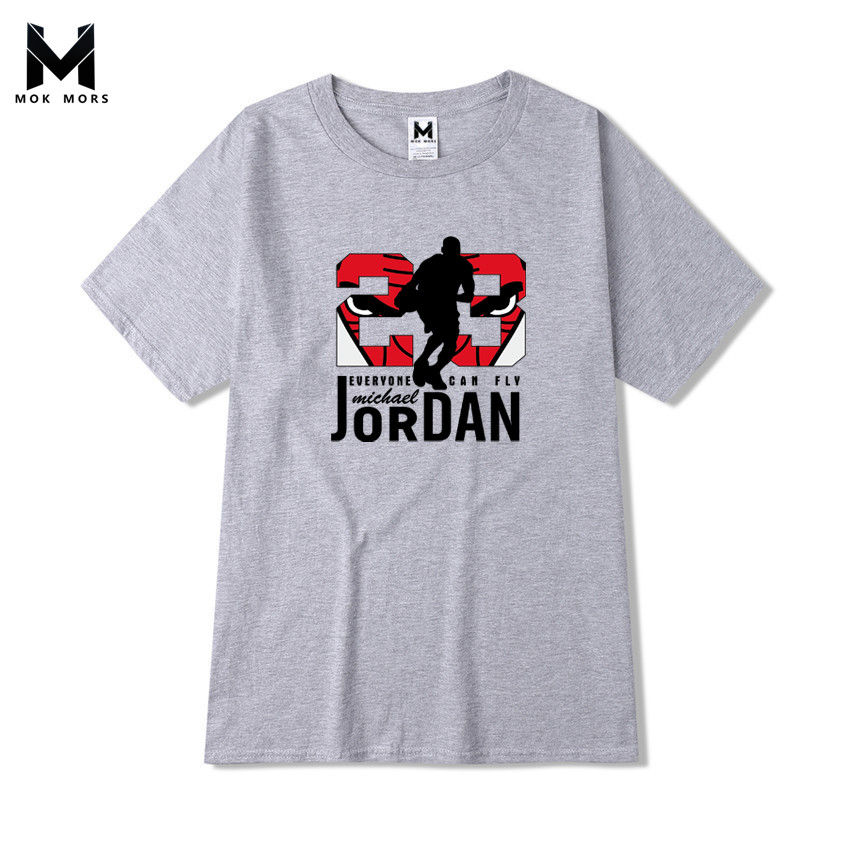 Mens JORDAN 23 Printing   T     Shirt   Brand Pure cotton Men   t     shirt   Stylish Summer Slender Tshirt Man Round Collar Large Code   T  -  Shirt