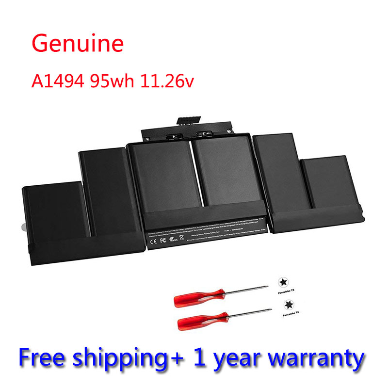 7XINbox 95Wh 11.26V A1494 Battery For Apple Macbook Pro 15 ...