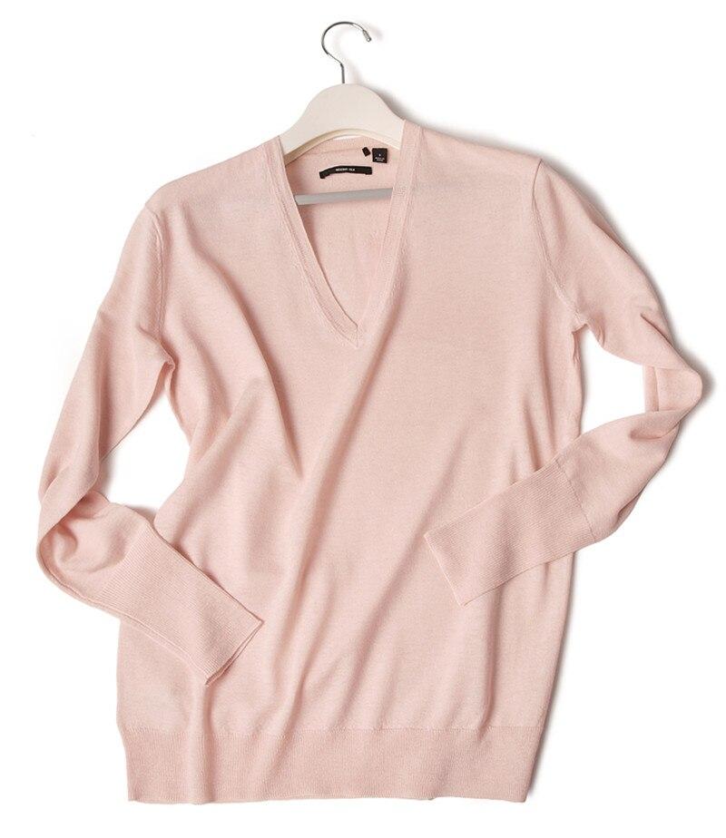 Femmes Pull m De S Pink Laine V Mode Light xl Le Soie Printemps Mérinos  Automne Col Nude Pour Tricot Mélange 4Z1nS4q0WA fdb50bc84dc