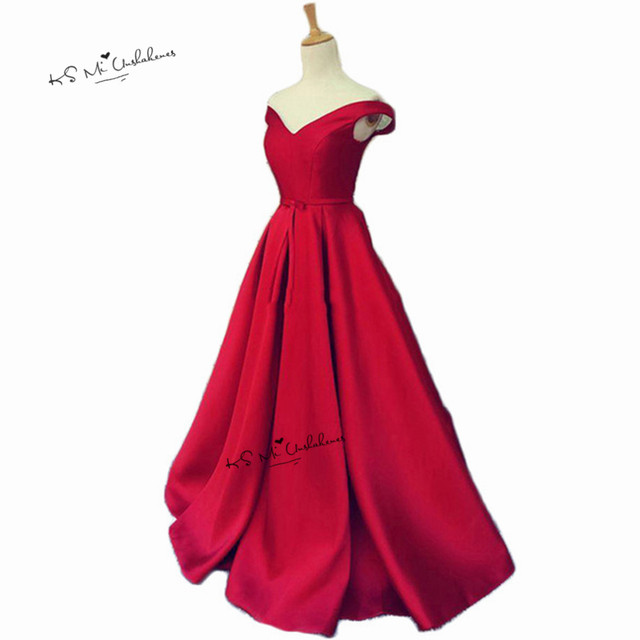 Robe de Soiree Cheap Red Evening Dresses Long Plus Size Prom Party ...