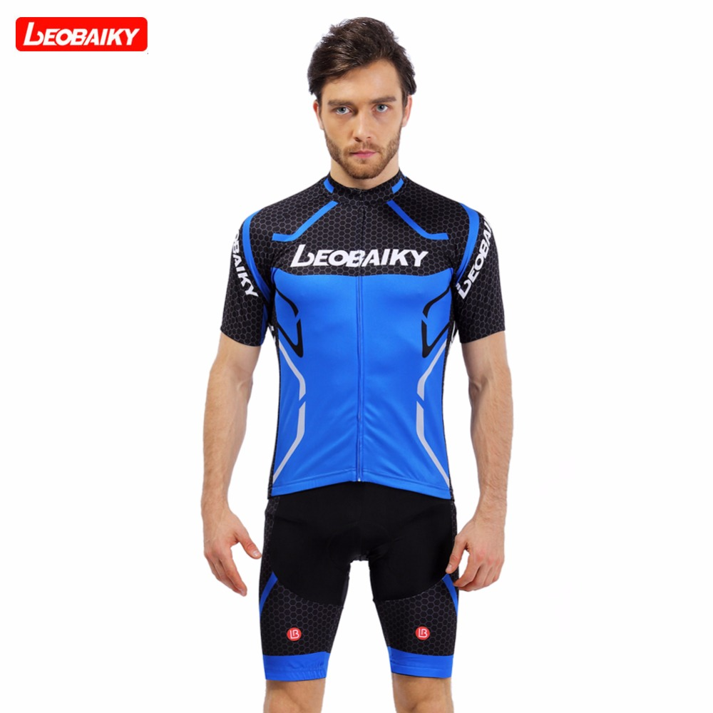 LEOBAIKY Cycling Jersey Sets 2018 Summer Short Sleeve Ciclismo Bike  Clothing Breathable Pad Cycling MTB Bicycle Jerseys Clothes 267c5327c