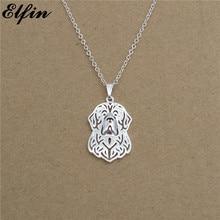 Elfin 2017 Trendy Newfoundland Necklace Gold Color Silver Color Dog Jewellery Pendant Necklace Women steampunk