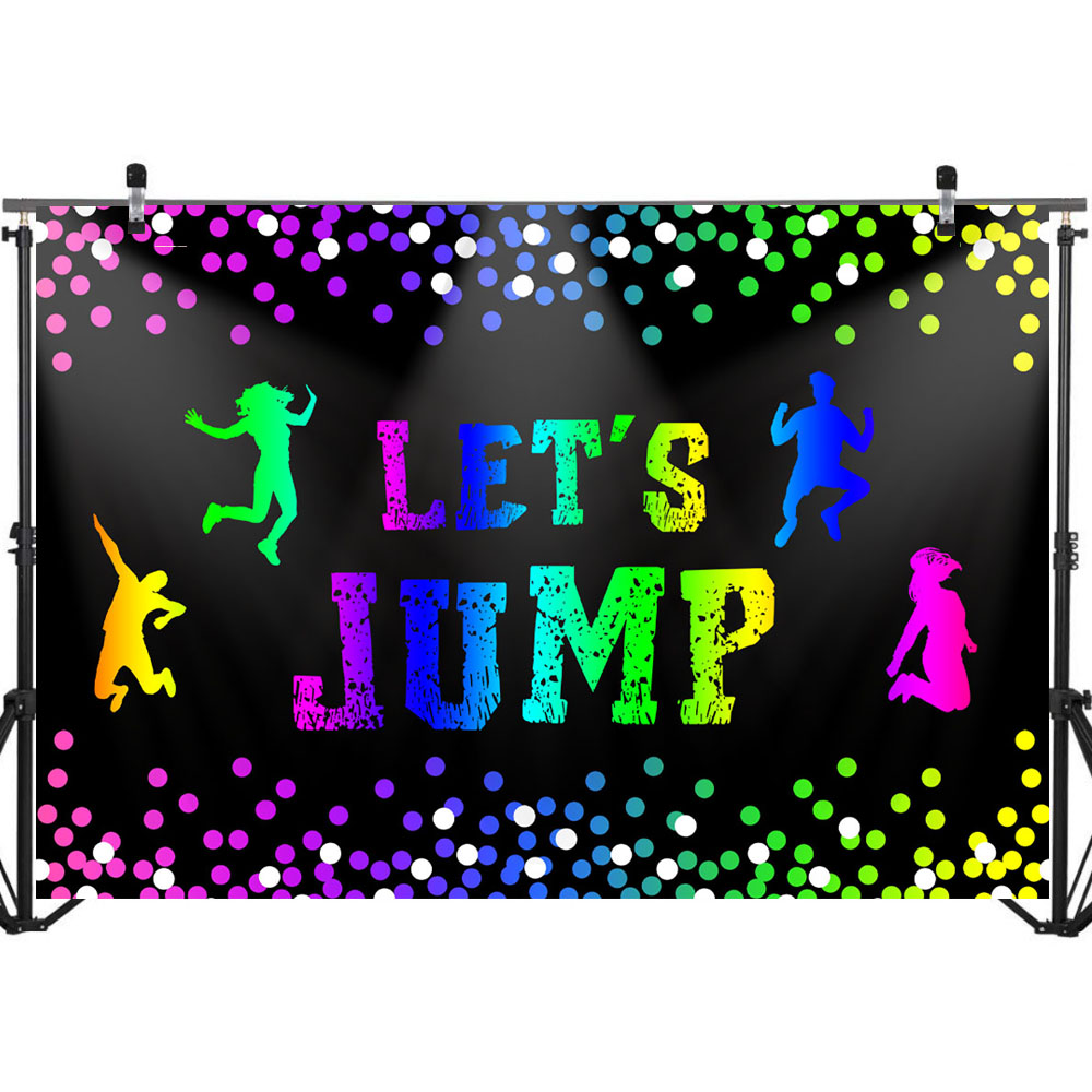 NeoBack Let 39 s Jump Trampoline Birthday Backdrop Bounce House for Children Birthday Celebration Decoration Background Photography in Background from Consumer Electronics