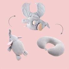 Деформируемая подушка для шеи с ворсом и плюшевая подушка для путешествий, подушка для шеи, может быть трансформирована в плюшевую игрушку, подушка для сна