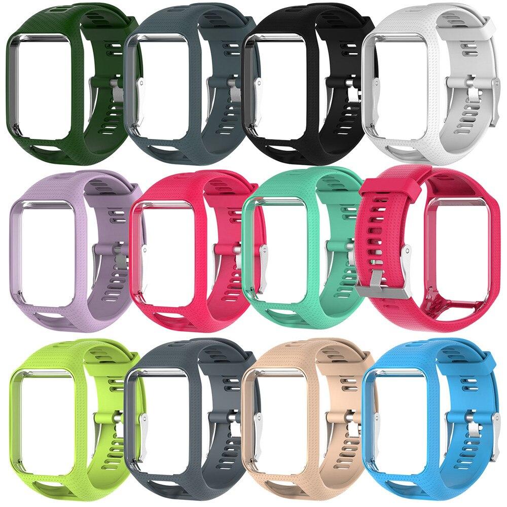 Tpe pulseira para tomtom runner 2 3 faísca/3 glfer 2 aventureiro relógio gps 11 cores de substituição pulseiras