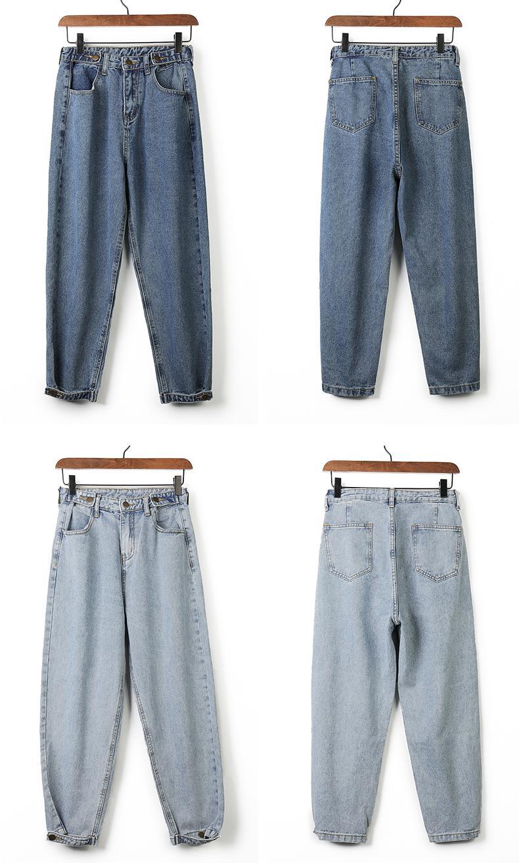 Women 2019 Mom Jeans Harem Jeans Casual Denim Pants Boyfriends Jeans Femme Trousers Ripped Jeans Vintage Retro
