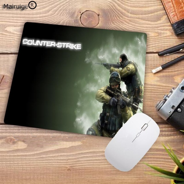 Mairuige Big Promotion Rubber Anti-slip Counter Strike Mice Mat DIY Computer Gaming Mouse Pad Cs Go Rubber 22X18CM 1