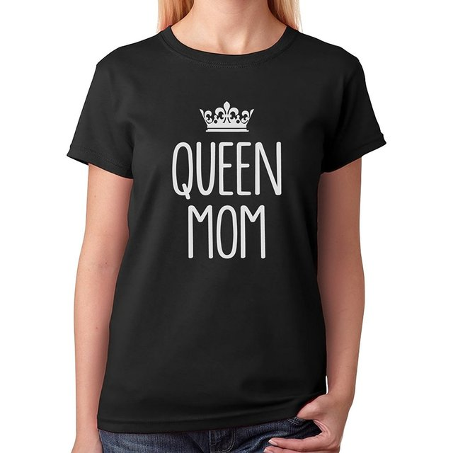 T Shirt Design Template Novelty Short Queen Mom Good ...