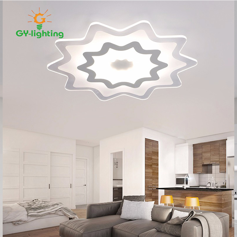 Dimmable modern Acrylic led ceiling lights for living room bedroom kids room surface mounted led home indoor ceiling lamp light modern led ceiling lights for office living bed room with remote control acrylic surface mounted led ceiling lamp for baby room