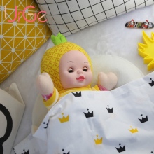 kawaii stuffed soft plush doll toy silicone baby dolls for sale sleeping Cartoon pineapple dolls dolls