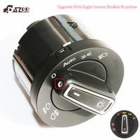 DAZOO New Upgrade AUTO Headlight Head Lamp Switch with Light Sensor Module For V W Golf J etta MK5 6 Tiguan Touran 5ND941431