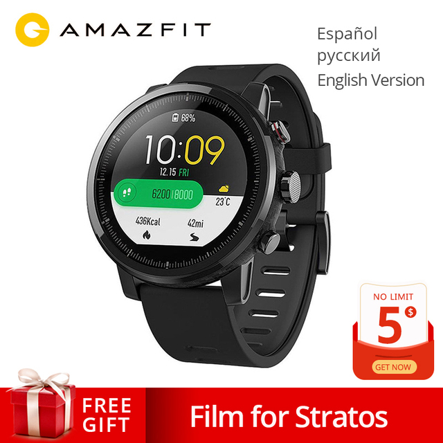 Global Version Original Xiaomi Huami Amazfit Stratos 2 Smart Watch Sport GPS 5ATM Water 2.5D GPS Firstbeat Swimming Smartwatch