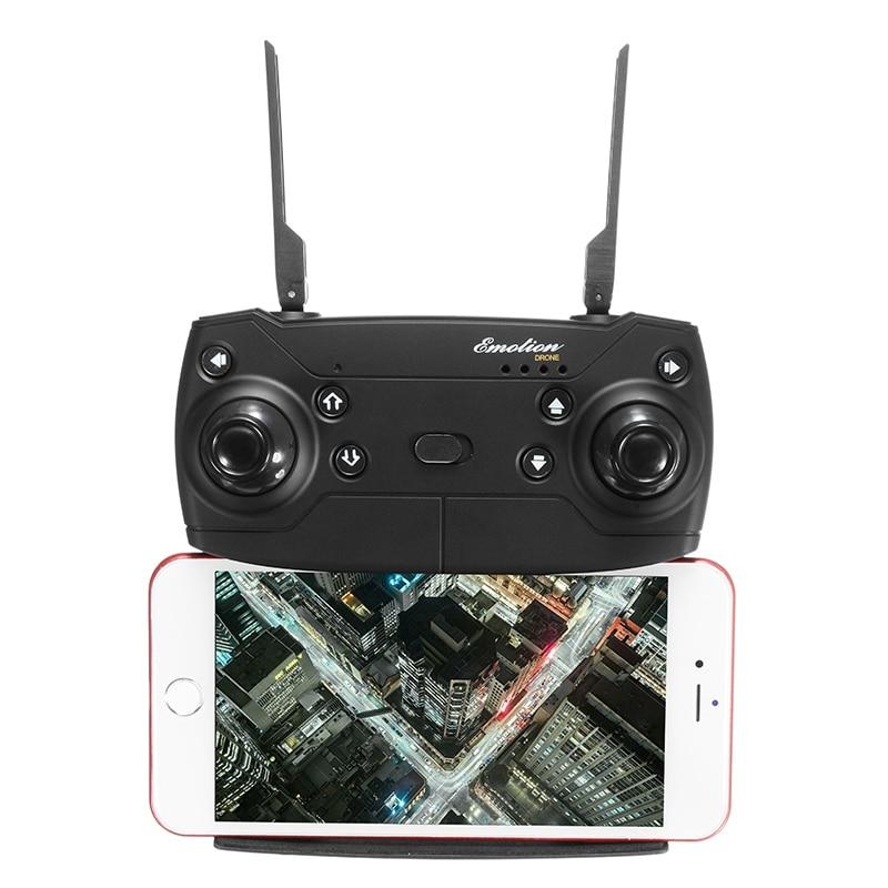 radiocommande de l'Eachine e58 avec son porte-smartphone