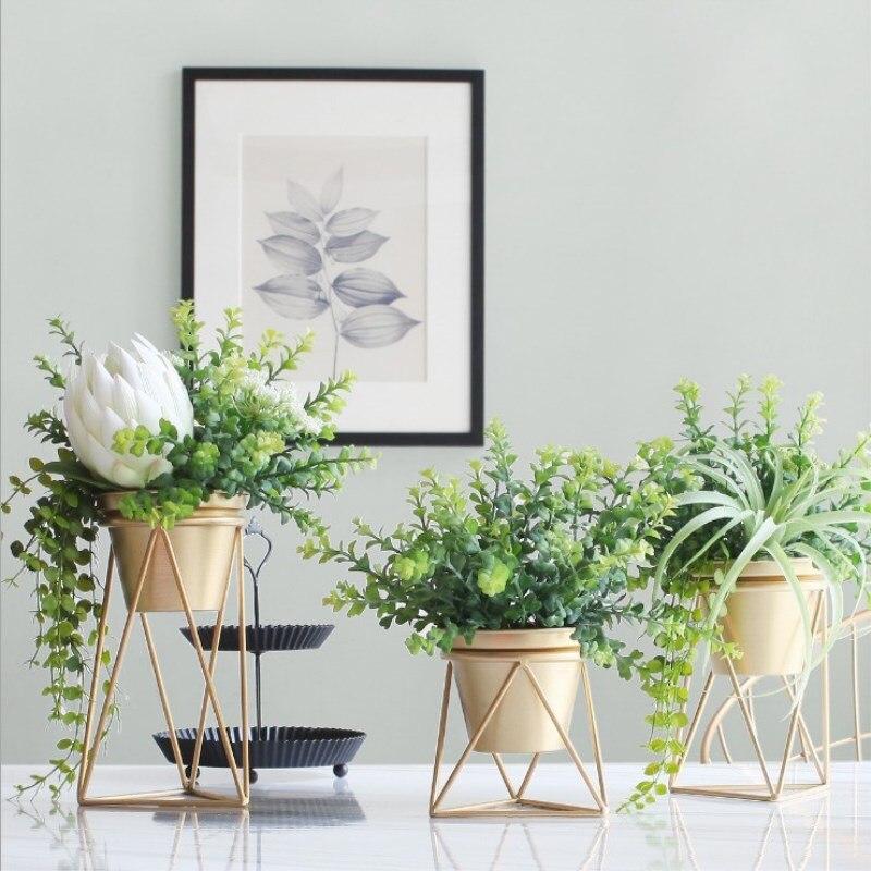 Nordic Wrought Iron Metal Flower Decorations Green Supplies Tiger Pilan Home Flower Pot Flower Barrel Hotel Wedding Ornaments