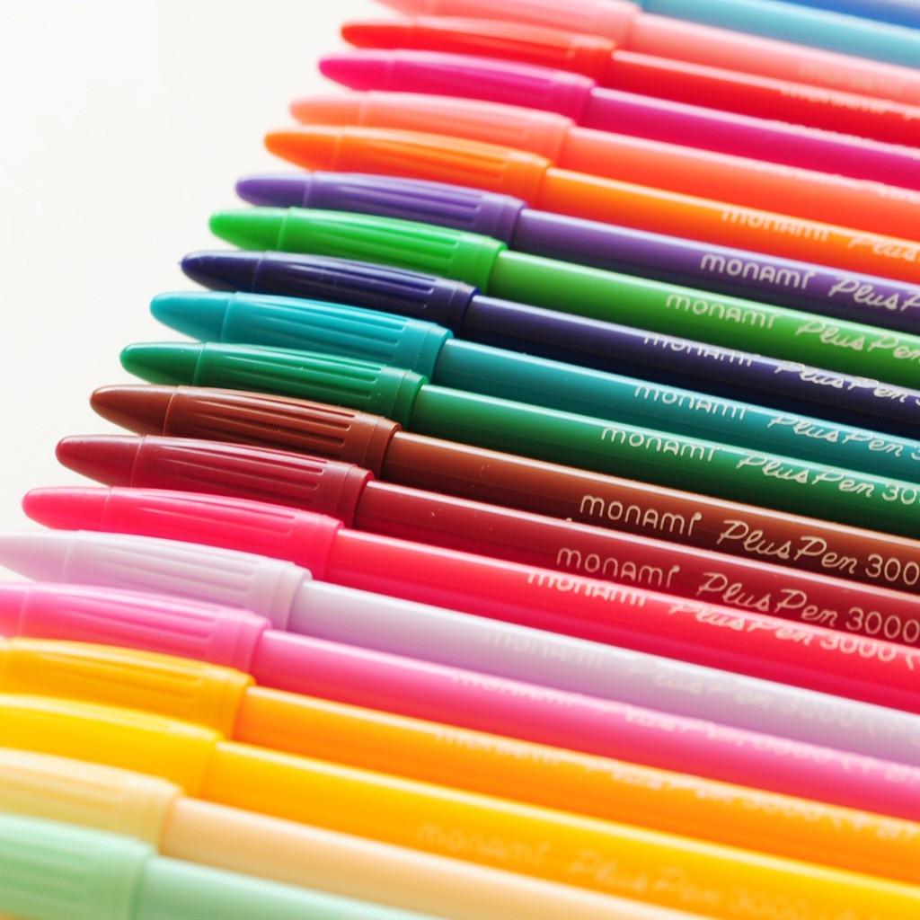 24 Color Gel Pens Monami Plus Pen Korean Stationery Canetas Papelaria Zakka Gift Office Material Escolar School Supplies