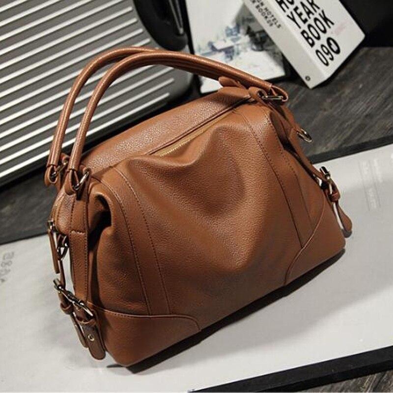 ФОТО High quality Women Handbag Fashion Shoulder Bag Solid Zipper Women Pillow Bag pu leather messenger bags totes bolsas XD3615