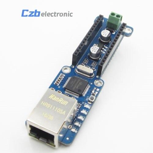 Standard Ethernet Nano Bouclier W5100 Ethernet LAN Réseau Module Micro-SD Support TCP UDP Pour Arduino V3.0 R3 UNO Mega 2560