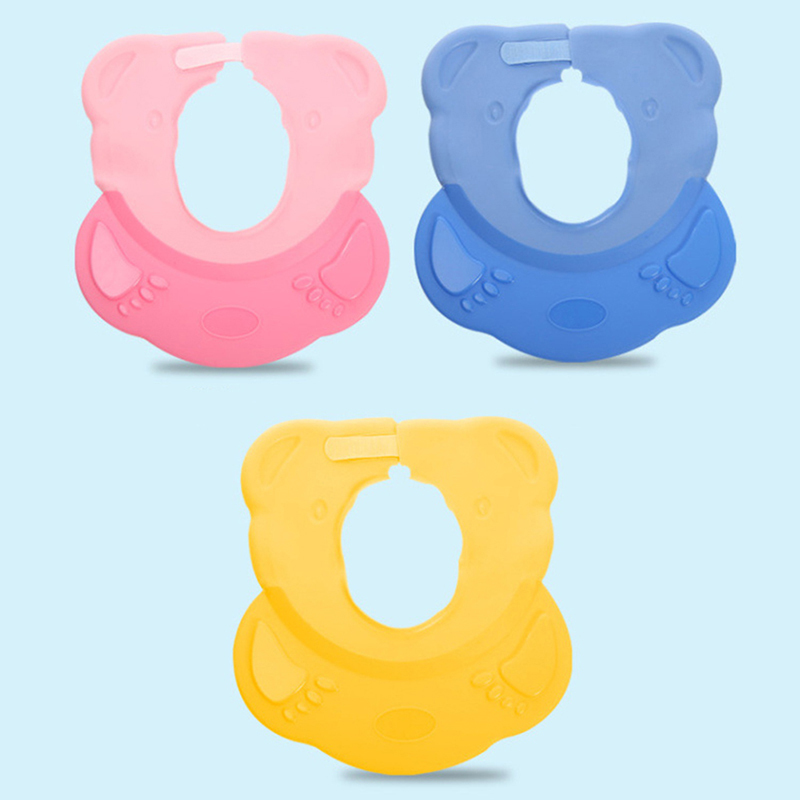 Hot sale Baby Bath Cap Baby Waterproof Shower Cap Adjustable Shampoo Cap Bathing Silicone Cap for baby Care