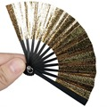 [wamami] 8# Gold Folding Fan Chinese/Japanese Style 80MM For MSD AOD BJD Dollfie