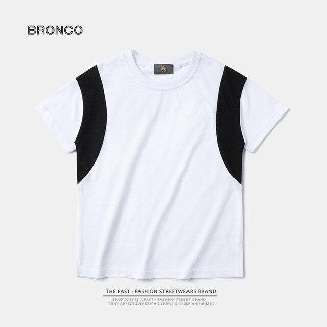 Children's clothing | 2017 summer shoulder strap cotton moisture perspiration boy short-sleeved sports t shirt