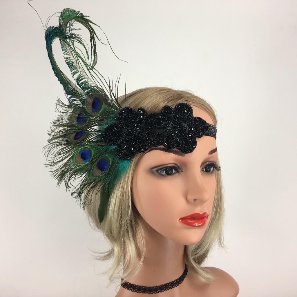 2019 Mode Frauen Vintage 1920 S Feder Stirnbänder Fascinator Cocktail Braut Retro Haar Fascinator Für Fotografie Abend Cocktail Party