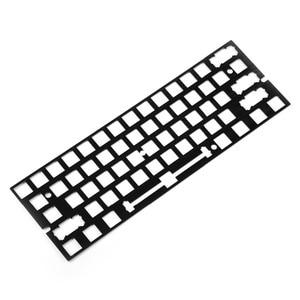 Image 4 - אלומיניום מברשת גימור פלדה פליז ANSI Anodized מיצוב לוח צלחת צלחת רכוב מייצבים עבור GH60 PCB GK61 החלפה חמה PCB