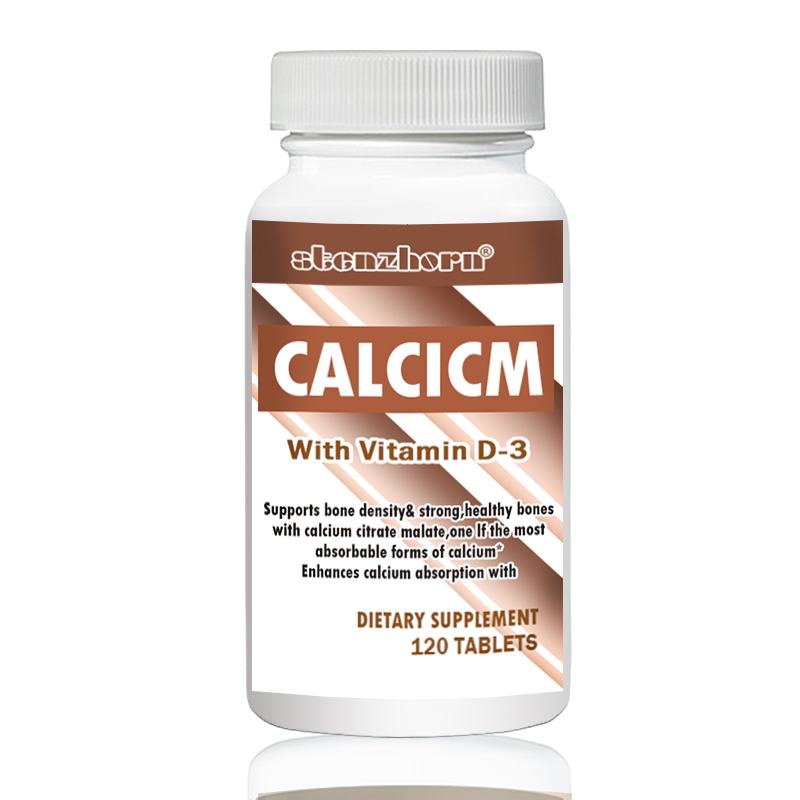 Calcium + Vitamin D3  500mg 120 Pcs Support Healthy Bones