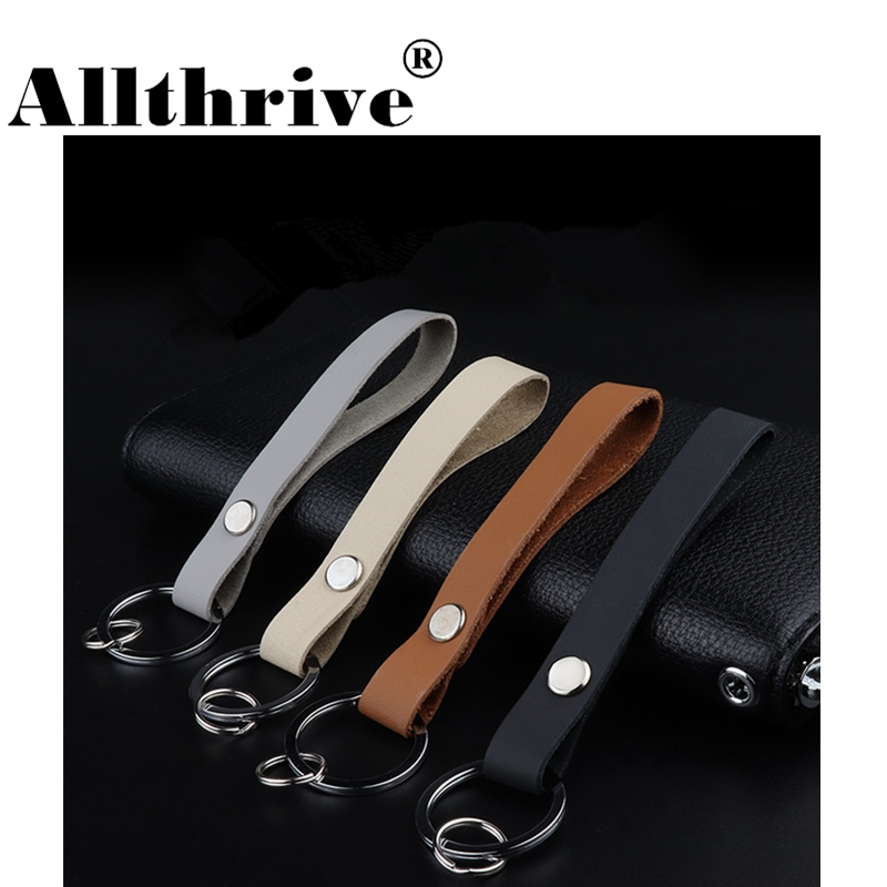 Fashion Metal and Leather Car Logo Belt Keychain Keyrings Key Chains for Men Women Car Pendant Fashion Jewelry 2018 New Arrivals car keychain key ring pendant metal alloy logo car emblem keyrings for vw audi toyota universal benz bmw car styling accessories