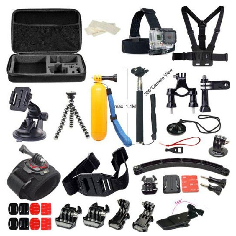 Free Shipping!!Accessories Set 38 in 1 Chest Strap / Tripod / Bag  for Gopro Hero 3 3+ 4/ SJ4000 SJ5000 / XiaoMi Yi Sport camera