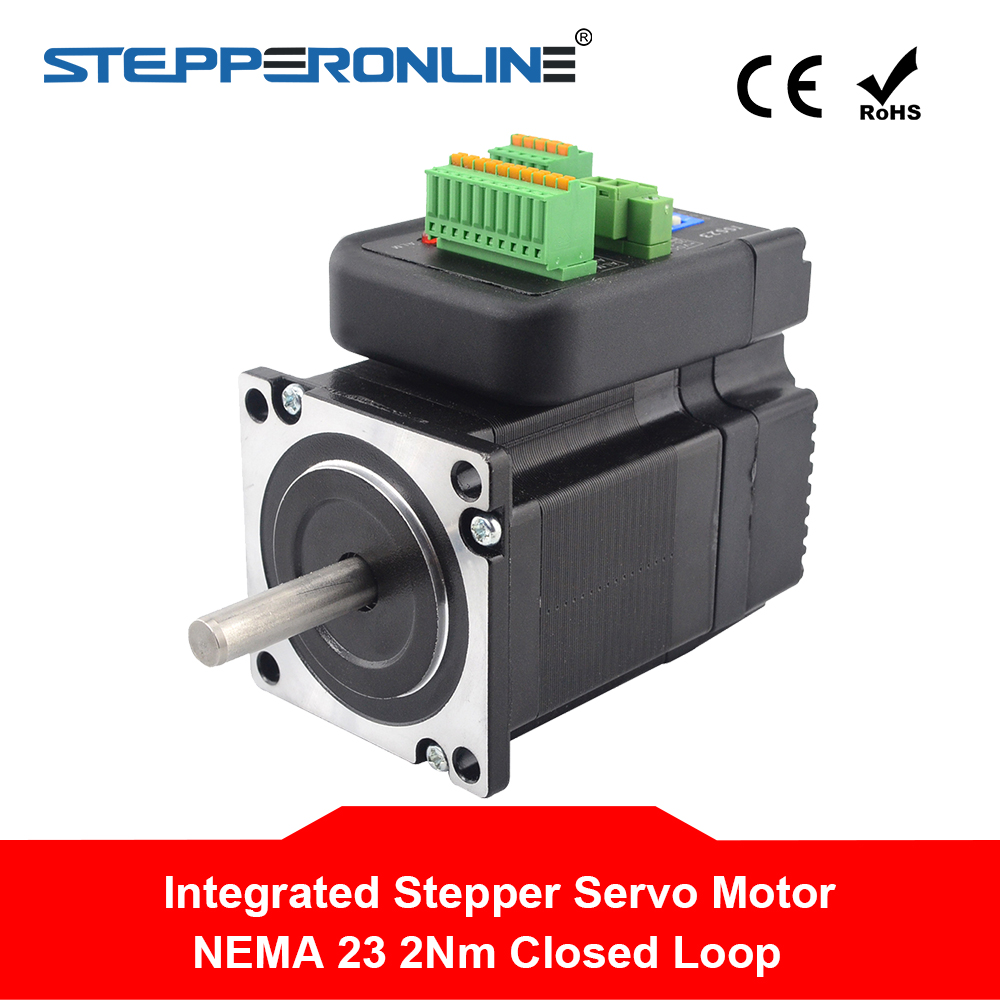 Nema 23 Closed Loop Stepper Motor with driver 1Nm 4.5A 24-50VDC Integrated Stepper Servo Motor & drive Hybrid StepperNema 23 Closed Loop Stepper Motor with driver 1Nm 4.5A 24-50VDC Integrated Stepper Servo Motor & drive Hybrid Stepper