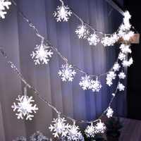 220 v 10 m 50LED Fiocco di Neve Di Natale fata ha condotto le luci per la cerimonia nuziale del partito casa Ghirlanda decorazione della Tenda stringa di luci Decorative