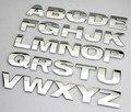 De calidad superior Personalizada metal 3D Inglés Carta Figura Digital Número Chrome DIY palabra Coche Insignia emblema Logo Calcomanías para Automóviles