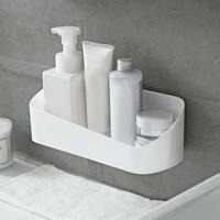Cosmetic   Storage   Dual Strong Suction Cup Bathroom Shelf   Kitchen     Storage   Wall Mounted Holder Geometry Rack Shower Organizer Shelf