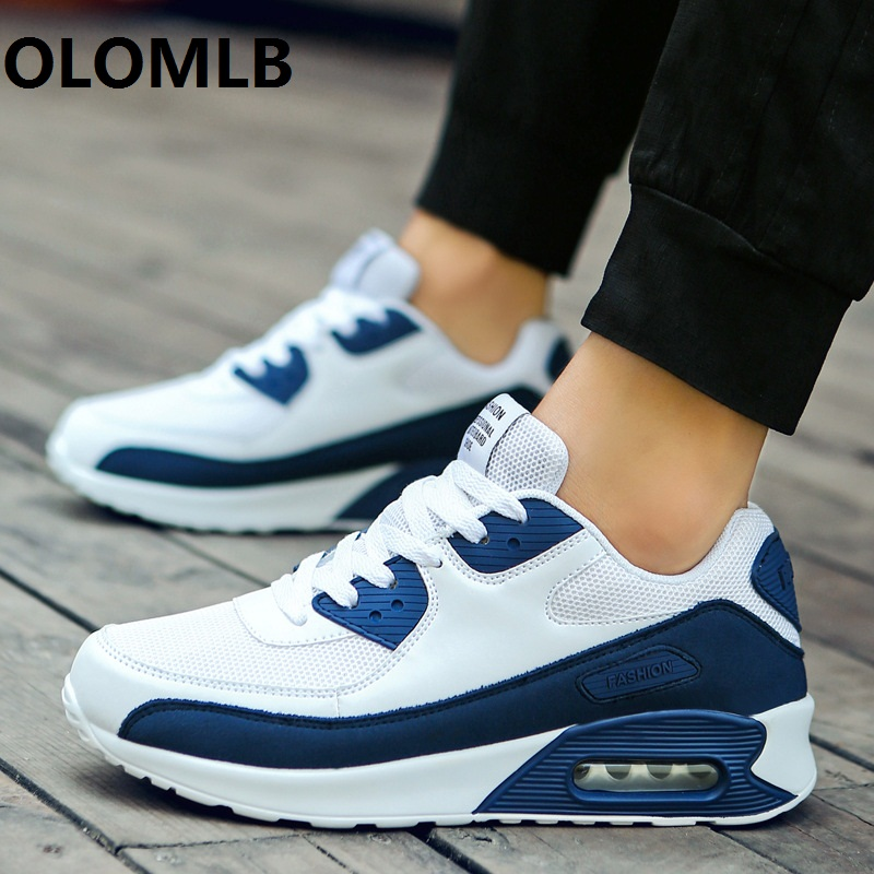NEW Men Women Shoes Casual Leather Flat Lace-up Low Top Slow Shock Male Running Skateboard Sneakers Travel Lovers Shoes Non-slip