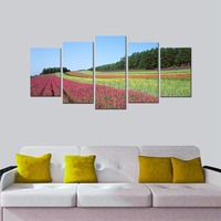 Modern Canvas Prints Floral Artwork Contemporary Flower Field Landscape Pictures Spray Printing On Canvas Art Prints