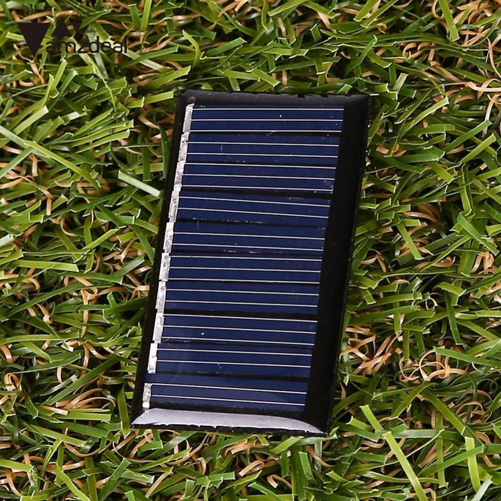 amzdeal 5V 25MA 45x25mm Polycrystalline Silicon Solar Panels DIY Outdoor Portable Travelling Powerbank Charging Module Cell Gift