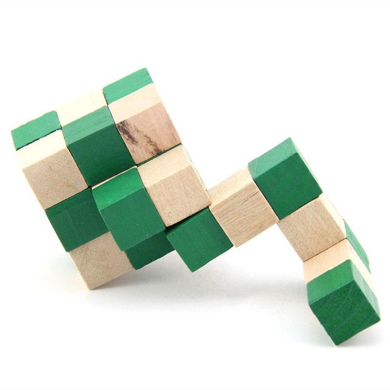 IQ Puzzle Wooden Dragon Tail Magic Cube Snake Shape Toys
