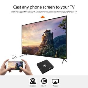 Image 3 - Google TV Box A95X Pro 2G 16G Smart Android 7,1 TV Box Voice Control Amlogic S905W WiFi LAN media Player PK X96mini X96 Mini