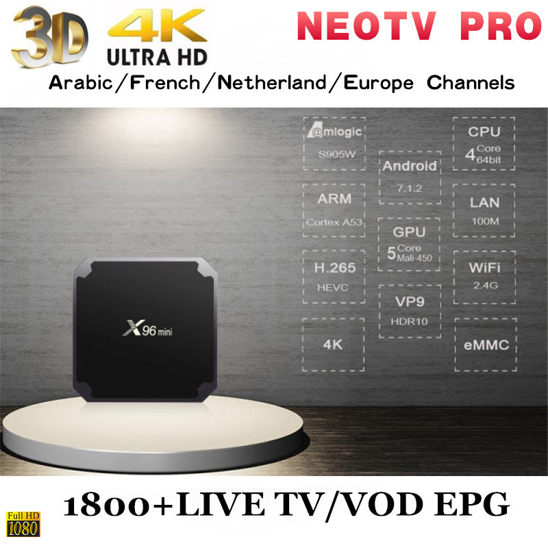 Neotv pro French Iptv subscription Live TV VOD Movies channels French Arabic UK Europe H 265