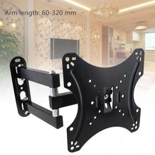 20KG Adjustable TV Wall Mount Bracket Flat Panel TV Frame Support 15 Degrees Tilt with Gradienter for LCD LED Monitor Flat Pan