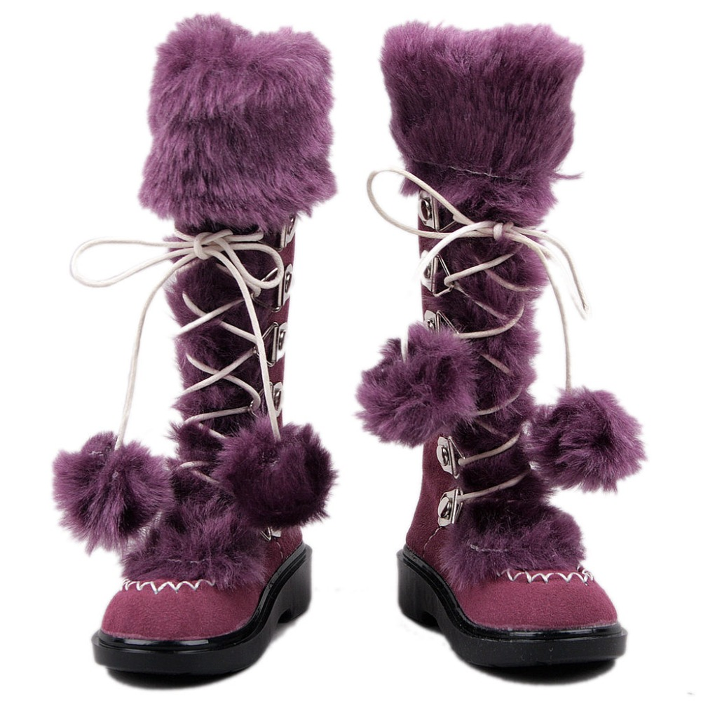 [wamami] 42# Purple 1/3 SD DZ DOD BJD Dollfie Synthetic Leather Boots/Shoes