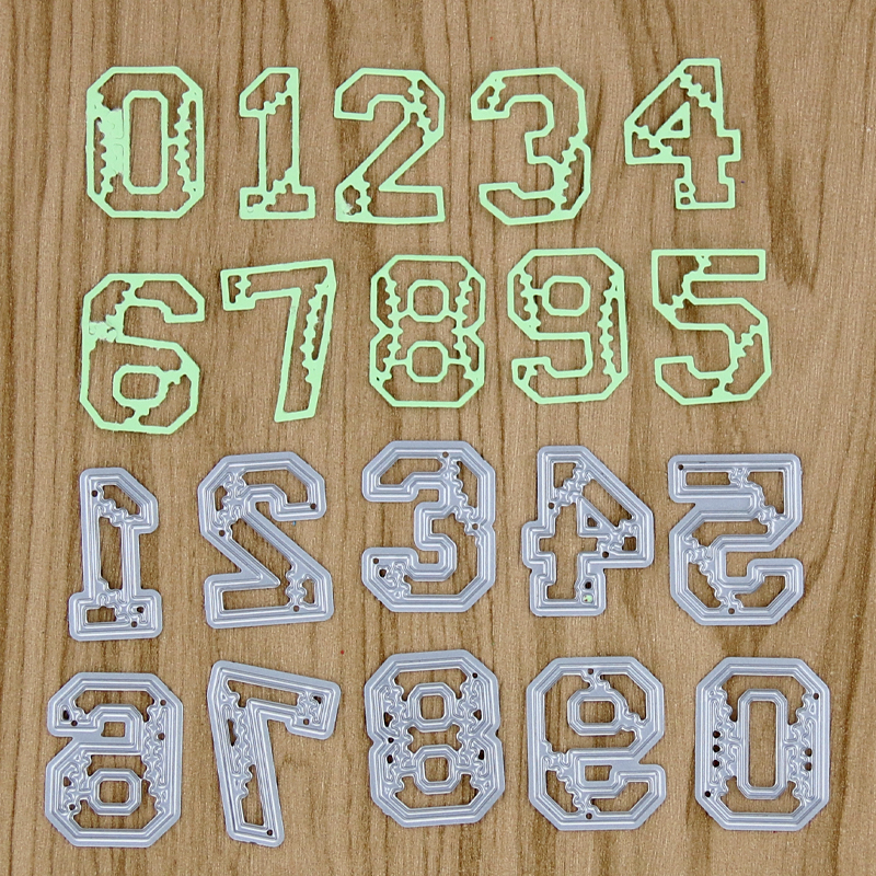 0 9 Numbers Metal Cutting Dies for DIY Scrapbooking Photo Album Decoretive Embossing Stencial Card Making in Cutting Dies from Home Garden