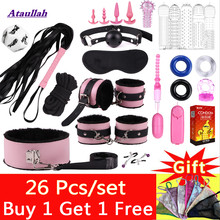 Sexo Bdsm Women Toys Bondage Rope Set Whip Butt Plug Anal Tail Handcuffs for Sex Fetish Couple Toys Adult Games Gag Ball ST257(China)