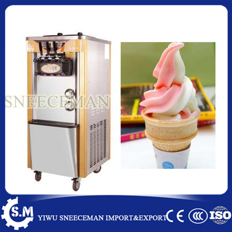 30-38L/H Commercial Soft Ice Cream Machine 3 Flavors Ice Cream Maker big capacity soft ice cream machine 30l h commercial soft ice cream making maker machine air cooling 3 flavors china soft serve ice cream maker machine with ce