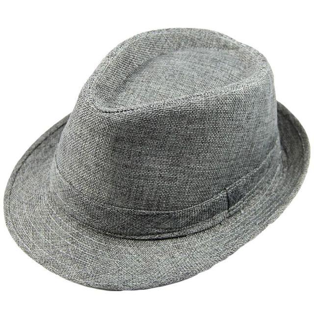 Hombres Mujeres Unisex verano playa sombrero sol Jazz Panama gángster gorra  Trilby Fedora Beige dd587ecd5a0
