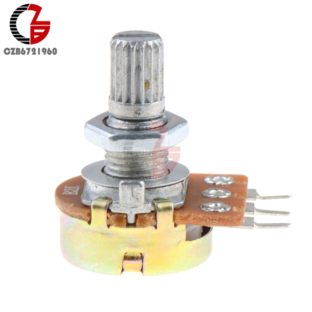 5Pcs WH148 B1K Linear Potentiometer 15mm Shaft With Nuts And Washers 3pin