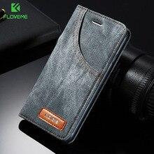 Floveme чехол для телефона iPhone 6 6 S 7 Plus кожа Жан джинсовая ткань антидетонационных для iPhone 7 6 6 S Чехлы Флип держатель карты ракушками