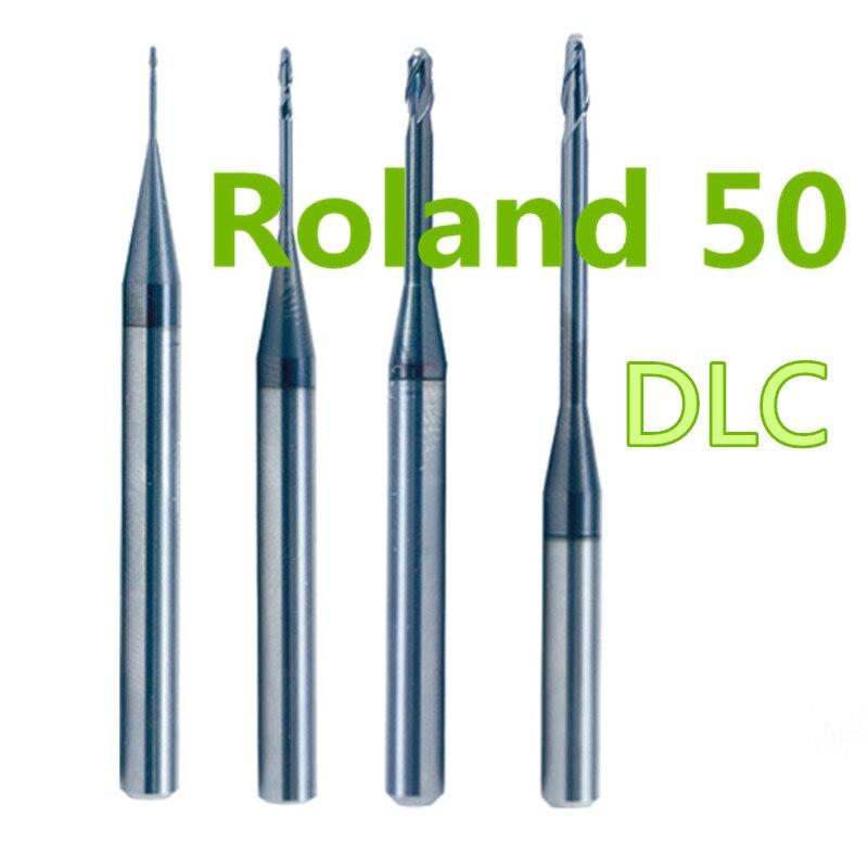 5 PCS lot Dental Lab Zirconia Roland 50 Carbide Milling Burs Machine 0 6 1 0